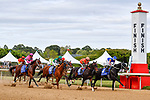 HOT SPRINGS, AR - APRIL 14: Oaklawn Handicap. Oaklawn Park on April 14, 2018 in Hot Springs,Arkansas. (left to right) #11 City Of Light with jockey Drayden Van Dyke, #10 Accelerate with jockey Victor Espinoza, #6 Colonelsdarktemper with jockey Jon Court, #4 Untrapped with jockey Ricardo Santana Jr.(Photo by Ted McClenning/Eclipse Sportswire/Getty Images)