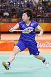Akane Yamaguchi (JPN), <br /> AUGUST 16, 2016 - Badminton : <br /> Women's Singles Quarter-final <br /> at Riocentro - Pavilion 4 <br /> during the Rio 2016 Olympic Games in Rio de Janeiro, Brazil. <br /> (Photo by YUTAKA/AFLO SPORT)