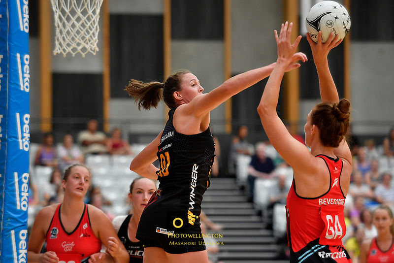 Preseason Tournament - Tactix v Magic at Ngā  Purapura, Otaki, New Zealand on Saturday 9 February  2019. <br /> Photo by Masanori Udagawa. <br /> www.photowellington.photoshelter.com