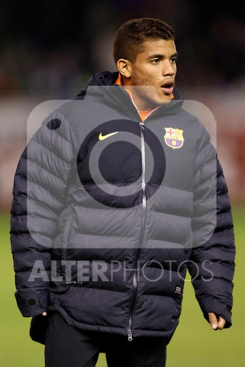 FC Barcelona's Jonathan Dos Santos during Spanish King's Cup match.October 30,2012. (ALTERPHOTOS/Acero)