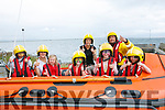 Ballyheigue Inshore Rescue Open Day at the Boathouse on Dromature Pier on Sunday Pictured l-r Samuel Fleury, Livia Fleury, Meave Fleury, Elle Fleury, Hannah McKenzie, Finn McKenzie Back, Rachel Mckenzie and Steve O'Connor