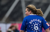 Luke FRIEND (X-Factor) during the SOCCER SIX Celebrity Football Event at the Queen Elizabeth Olympic Park, London, England on 26 March 2016. Photo by Andy Rowland.