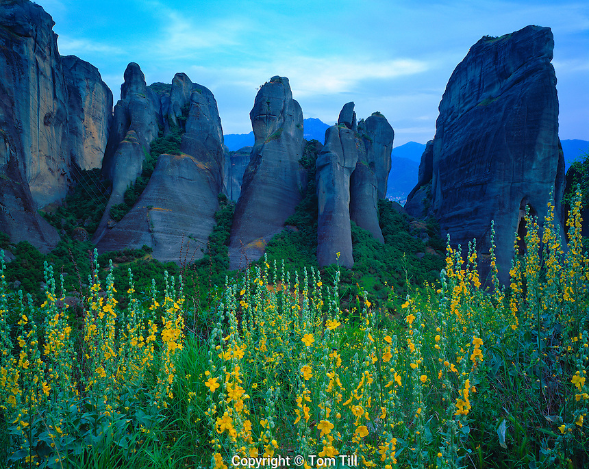 Rock Forms at Meteora, Meteora, Greece    Spires of welded tuff UNESCO  World heritage Site