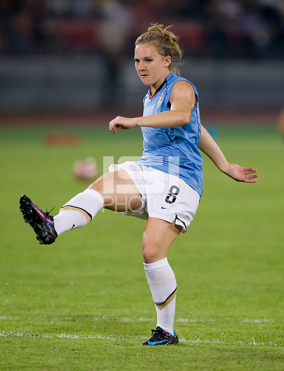 Amy Rodriguez. The USWNT defeated Japan, 4-2, during the semi-finals of the Beijing 2008 Olympics in Beijing, China.