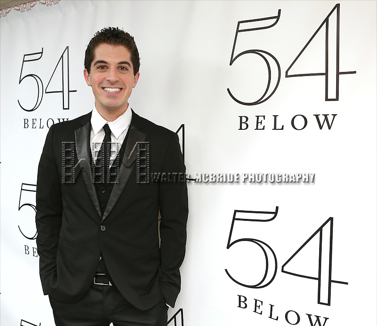 """Anthony Nunziata backstage before performing """"Broadway, Our Way"""" at 54 Below on January 9, 2014 in New York City."""