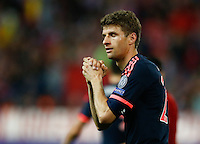 Bayer Munich´s forward Thomas Muller lamenting