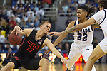San Diego State guard  Malachi Flynn (22) slips as he drives past Nevada guard Jazz Johnson (22)  during the first half of a basketball game played at Lawlor Events Center in Reno, Nev., Saturday, Feb. 29, 2020. (AP Photo/Tom R. Smedes)