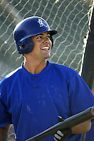 Casey Kotchman of the Rancho Cucamonga Quakes before a game against the Inland Empire 66ers at Staters Bros Stadium on April 10, 2003 in San Bernardino, California. (Larry Goren/Four Seam Images)