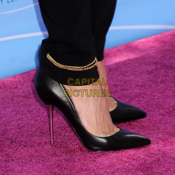 Gwen Stefani's shoes of No Doubt.FOX's 2012 Teen Choice Awards held at The Gibson Ampitheatre in Universal City, California, USA..July 22nd, 2012.feet heels gold anklet bracelet chain  black  .CAP/ADM/BP.©Byron Purvis/AdMedia/Capital Pictures.