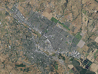 aerial photo map of Petaluma, Sonoma County, California, 2016
