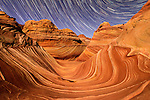Night time exposure of  The Wave in the Coyote Buttes North special permit area of the Vermillion Cliffs wilderness area on the border with Utah and Arizona. This amazing, unique and fragile landscape is remote and heavily regulated