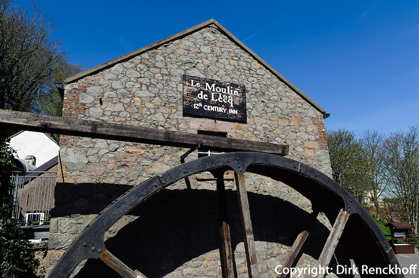 Wassermühle Moulin Lecq im St. Peter's Valley, Insel Jersey, Kanalinseln