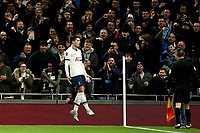 14th January 2020; Tottenham Hotspur Stadium, London, England; English FA Cup Football, Tottenham Hotspur versus Middlesbrough; Erik Lamela of Tottenham Hotspur celebrates as he scores for 2-0 in the 16th minute - Strictly Editorial Use Only. No use with unauthorized audio, video, data, fixture lists, club/league logos or 'live' services. Online in-match use limited to 120 images, no video emulation. No use in betting, games or single club/league/player publications
