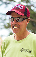 NWA Democrat-Gazette/CHARLIE KAIJO Dr. Dan Bell smiles at his construction site, Friday, June 8, 2018 on Passion Play Road, across the street from the Washington Regional clinic in Eureka Springs. <br /><br />Eight tiny houses are being built in Eureka Springs, which has a dearth of affordable housing. They're being constructed by 66 volunteers from 13 states with World Mission Builders. They began work on Monday (June 4) and should finish most of the construction by the end of next week (June 15). Then local volunteers will finish out the interiors and put shingles on the roofs. The first eight houses are part of what will be called ECHO Village. Plans are to eventually have 26 houses in the village. It's a project of Eureka Christian Health Outreach, which bought 10 acres for the village. The same group started ECHO Clinic in Eureka Springs in 2005. It provides free medical care to the uninsured and people on a low income.