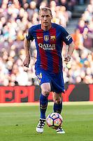 FC Barcelona's Jeremy Mathieu during the La Liga match between Futbol Club Barcelona and Deportivo de la Coruna at Camp Nou Stadium Spain. October 15, 2016. (ALTERPHOTOS/Rodrigo Jimenez) NORTEPHOTO.COM