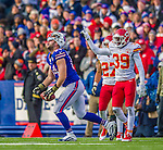 9 November 2014: Buffalo Bills tight end Scott Chandler is called for offensive pass interference in the third fourth against the Kansas City Chiefs at Ralph Wilson Stadium in Orchard Park, NY. The Chiefs rallied with two fourth quarter touchdowns to defeat the Bills 17-13. Mandatory Credit: Ed Wolfstein Photo *** RAW (NEF) Image File Available ***