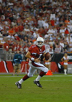 Oct. 16, 2006; Glendale, AZ, USA; Arizona Cardinals quarterback (7) Matt Leinart against the Chicago Bears at University of Phoenix Stadium in Glendale, AZ. Mandatory Credit: Mark J. Rebilas
