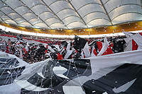 Eintracht Fans sorgen für Stimmung vor dem Anpfiff - 19.09.2019:  Eintracht Frankfurt vs. Arsenal London, UEFA Europa League, Gruppenphase, Commerzbank Arena<br /> DISCLAIMER: DFL regulations prohibit any use of photographs as image sequences and/or quasi-video.