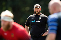 Dragons scrum coach Ceri Jones looks on. Bath Rugby pre-season training on August 8, 2018 at Farleigh House in Bath, England. Photo by: Patrick Khachfe / Onside Images
