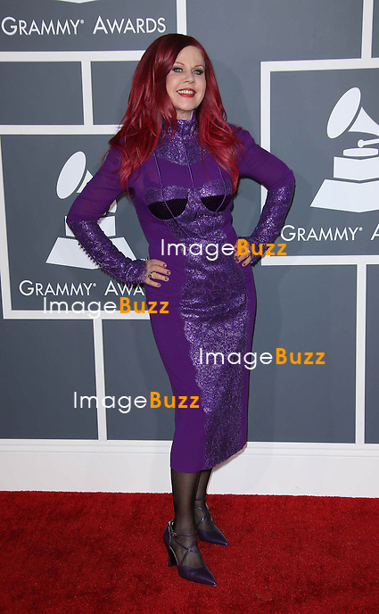 Kate Pierson   at the 55th Grammy Awards-Arrivals  held at the Los Angeles Convention Center.