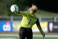 Philadelphia Independence goalkeeper Val Henderson (1). The Philadelphia Independence defeated Sky Blue FC 2-1 during a Women's Professional Soccer (WPS) match at John A. Farrell Stadium in West Chester, PA, on June 6, 2010.