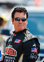 Jul 8, 2017; Joliet, IL, USA; Papa Johns Pizza founder John Schnatter during NHRA qualifying for the Route 66 Nationals at Route 66 Raceway. Mandatory Credit: Mark J. Rebilas-USA TODAY Sports