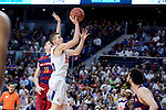 Real Madrid's Jaycee Carroll and FC Barcelona Lassa's Marcus Eriksson during Liga Endesa match between Real Madrid and FC Barcelona Lassa at Wizink Center in Madrid, Spain. March 12, 2017. (ALTERPHOTOS/BorjaB.Hojas)
