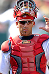 14 March 2007: St. Louis Cardinals catcher Brian Esposito in the action against the Washington Nationals at Roger Dean Stadium in Jupiter, Florida...Mandatory Photo Credit: Ed Wolfstein Photo