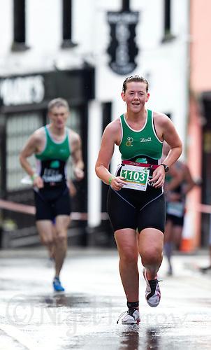 04 JUL 2010 - ATHLONE, IRL - Sharon O'Hara - European Age Group Standard Distance Triathlon Championships .(PHOTO (C) NIGEL FARROW)