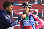 Italian National champion Marta Cavalli (ITA) Valcar-Cylance Cycling at sign on before the Strade Bianche Women Elite 2019 running 133km from Siena to Siena, held over the white gravel roads of Tuscany, Italy. 9th March 2019.<br /> Picture: Eoin Clarke | Cyclefile<br /> <br /> <br /> All photos usage must carry mandatory copyright credit (© Cyclefile | Eoin Clarke)