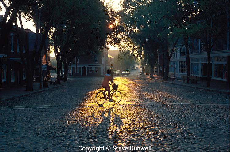 sunrise, Main Street, Nantucket, MA