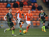 Blackpool's Sessi D'Almeida and Bristol Rovers' Ollie Clarke<br /> <br /> Photographer Stephen White/CameraSport<br /> <br /> The EFL Sky Bet League One - Blackpool v Bristol Rovers - Saturday 13th January 2018 - Bloomfield Road - Blackpool<br /> <br /> World Copyright &copy; 2018 CameraSport. All rights reserved. 43 Linden Ave. Countesthorpe. Leicester. England. LE8 5PG - Tel: +44 (0) 116 277 4147 - admin@camerasport.com - www.camerasport.com
