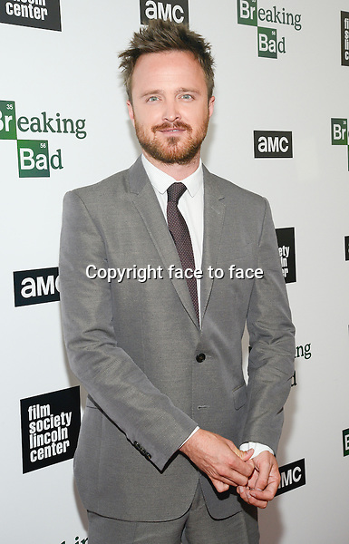 Aaron Paul attend The Film Society Of Lincoln Center And AMC Celebration Of 'Breaking Bad' Final Episodes at The Film Society of Lincoln Center, Walter Reade Theatre in New York, 31.07.2013.<br />