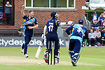 Pix: Shaun Flannery/shaunflanneryphotography.com...COPYRIGHT PICTURE>>SHAUN FLANNERY>01302-570814>>07778315553>>..19th May 2013..Derbyshire Unicorns v Yorkshire Vikings..Yorkshire Bank 40 National League Cricket Match..Yorkshire's Richard Pyrah celebrates after bowling the Unicorns Park.