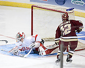 Charlie Effinger, Chris Collins - The Boston College Eagles defeated the Miami University Redhawks 5-0 in their Northeast Regional Semi-Final matchup on Friday, March 24, 2006, at the DCU Center in Worcester, MA.