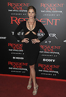 www.acepixs.com<br /> <br /> January 23 2017, LA<br /> <br /> Ellen Hollman arriving at the premiere of 'Resident Evil: The Final Chapter' at the Regal LA Live on January 23, 2017 in Los Angeles, California.<br /> <br /> By Line: Peter West/ACE Pictures<br /> <br /> <br /> ACE Pictures Inc<br /> Tel: 6467670430<br /> Email: info@acepixs.com<br /> www.acepixs.com