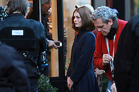 NEW YORK, NY - NOVEMBER 17: Vanessa Paradis on the set of the film Fading Gigolo in New York City. November 17, 2012. Credit MediaPunch Inc. NortePhoto