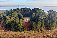 BNPS.co.uk (01202 558833)<br /> Pic: Albury&Hall/BNPS<br /> <br /> The island boast's a relaxing observatory on the highest point where guest can contemplate the peaceful surroundings.<br /> <br /> Love Islands ? - Then this idyllic spot in the middle of Poole harbour in Dorset could be the perfect escape.<br /> <br /> 15 acre Round island has been put up for long term rent by its owners for £15,000 a month.<br /> <br /> For that the lucky tenants will get the use of three cottages with space for up to 20 people as well the services of two caretakers who live in another property on the island. <br /> <br /> They provide boat 15 minute boat rides to the mainland at the request of the tenants.<br /> <br /> The nearest shops, restaurants and amenities are three miles away in Poole and the exclusive resort of Sandbanks.