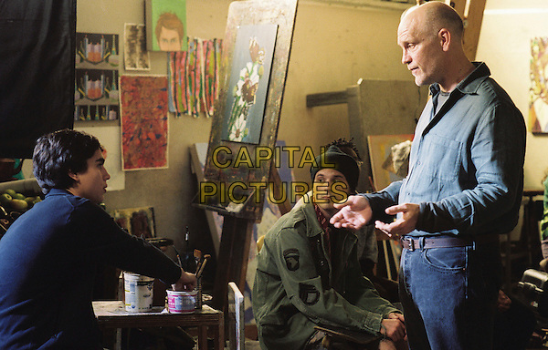MAX MINGHELLA, SCOOT MACNAIRY & JOHN MALKOVICH.in Art School Confidential.*Editorial Use Only*.www.capitalpictures.com.sales@capitalpictures.com.Supplied by Capital Pictures.