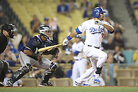 05/31/12 Los Angeles, CA:Los Angeles Dodgers right fielder Andre Ethier #16 during an MLB game between the Milwaukee Brewers and the Los Angeles Dodgers played at Dodger Stadium. The Brewers defeated the Dodgers 6-2.