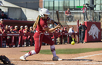 NWA Democrat-Gazette/BEN GOFF @NWABENGOFF<br /> Haydi Bugarin, Arkansas third baseman, grounds out in the 7th inning vs South Carolina Sunday, March 17, 2019, at Bogle Park in Fayetteville.