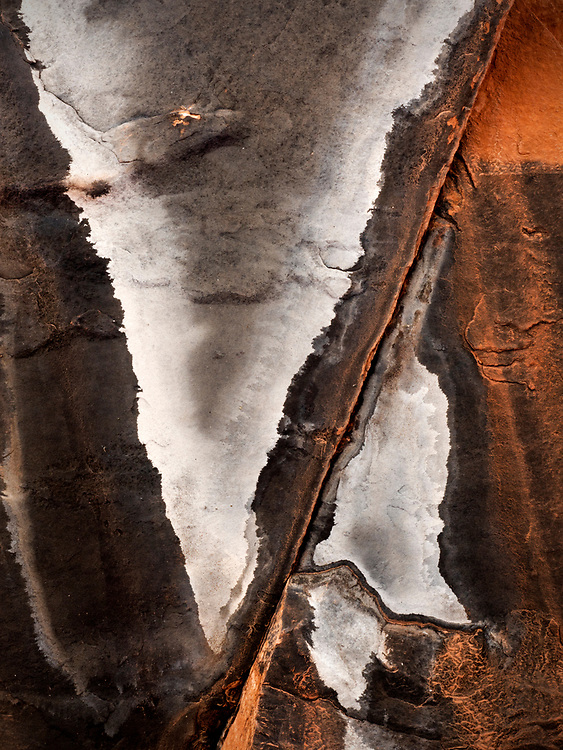 Abstract rock pattern formed by calcite in the Supai Formation in the Grand Canyon, Grand Canyon National Park, Arizona, USA