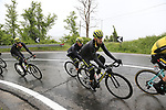 The peloton including Mikel Nieve (ESP) Mitchelton-Scott climb over the Appenines and into Tuscany during a wet Stage 2 of the 2019 Giro d'Italia, running 205km from Bologna to Fucecchio, Italy. 12th May 2019.<br /> Picture: Eoin Clarke | Cyclefile<br /> <br /> All photos usage must carry mandatory copyright credit (© Cyclefile | Eoin Clarke)