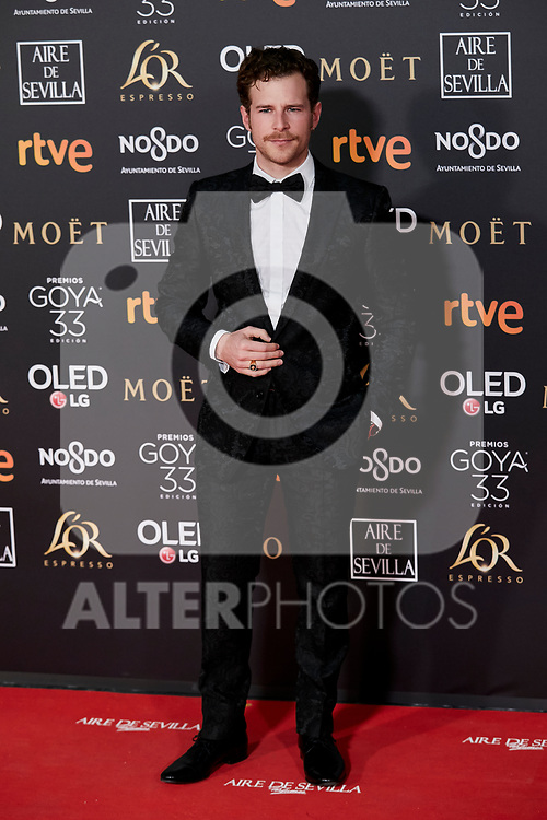 Alvaro Cervantes attends to 33rd Goya Awards at Fibes - Conference and Exhibition  in Seville, Spain. February 02, 2019. (ALTERPHOTOS/A. Perez Meca)