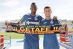 20150804. Getafe's new players Bernard Mensah and Victor Rodriguez.