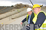 Patrick O'Sullivan shows our reporter Sylvester Hennessy the new stand under costruction in Fitzgerald Stadium on Monday