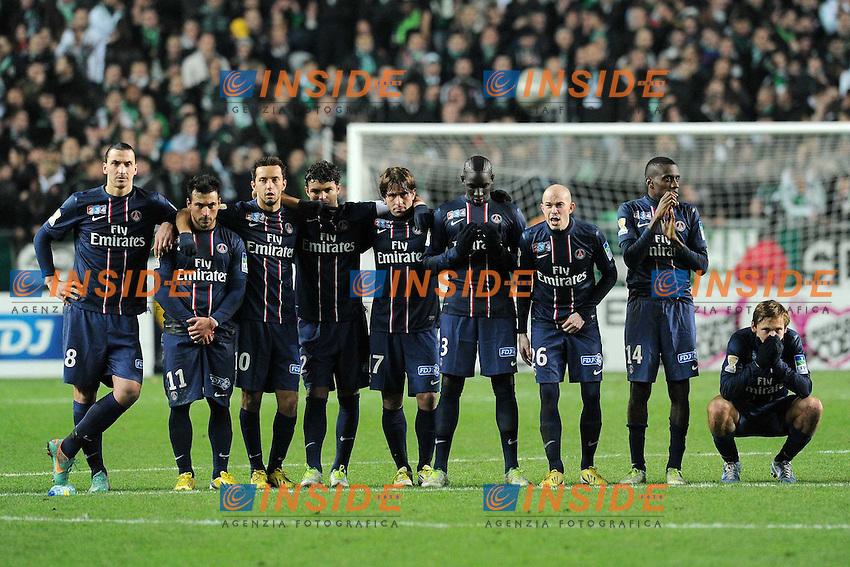 deception des parisiens .Saint Etienne 27/11/2012.Saint Etienne Vs Paris Saint Germain.Coppa di Francia.Foto Panoramic / Insidefoto.ITALY ONLY