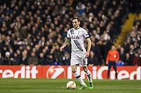 Goalscorer Ryan Mason of Tottenham Hotspur in action during the UEFA Europa League 2nd leg match between Tottenham Hotspur and Fiorentina at White Hart Lane, London, England on 25 February 2016. Photo by Andy Rowland / Prime Media images.