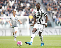 Calcio, Serie A: Juventus vs Carpi. Torino, Juventus Stadium, 1 maggio 2016.<br /> Juventus' Paul Pogba in action during the Italian Serie A football match between Juventus and Carpi at Turin's Juventus Stadium, 1 May 2016.<br /> UPDATE IMAGES PRESS/Isabella Bonotto