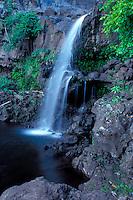 Waterfall at Oheo Gulch near Hana, Maui, Hawaii, USA.